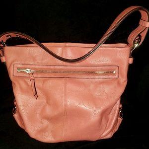 Coach peach leather Hobo